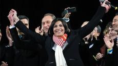 © Vernier/JBV NEWS La victoire d'Anne Hidalgo, l'une des rares nouvelles réconfortantes pour le PS au soir du deuxième tour.