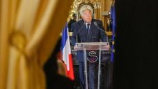 France. Paris le 2016/09/06 Gerard  Larcher President du Senat  conference de presse de rentree. Gerard Larcher en discours pendant sa conférence de presse