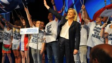 France. Marseille le 2015/09/06Universites Ete du Front National a Marseille.Marine Le Pen pendant son discours au universites ete