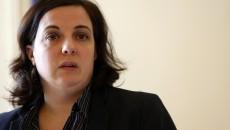 France. Paris le 2016/03/23Emmanuelle Cosse conference de presse sur egalite et acces au logement au Ministere.Emmanuelle Cosse portrait  ministre du logement