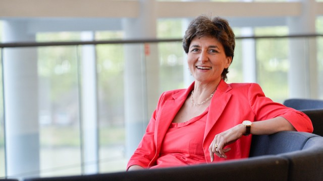 Sylvie GOULARD in the European Parliament in Strasbourg