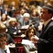 France. Paris le 2016/03/01 Senat questions actualites au gouvernement. Manuel Valls premier ministre repondant aux questions actualites au senat
