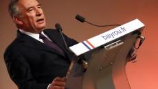 France. Paris le 2017/02/22Francois Bayrou president du MODEM annonce son alliance avec Emmanuel Macron du mouvement En Marche pour les elections presidentielles.Francois Bayrou pendant sa conference de presse