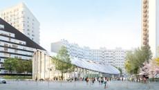 Projection de la future halle du marché Charras, prévue pour 2019.
