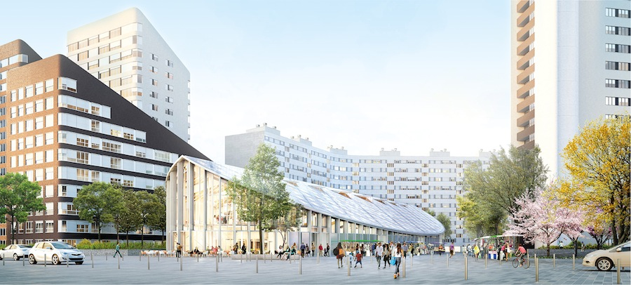 Courbevoie s appr te remodeler son centre ville le - Piscine charras courbevoie ...