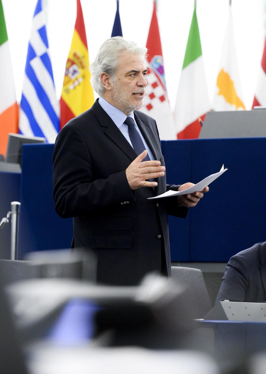 Le commissaire européen chargé de l'aide humanitaire Christos Stulianides.