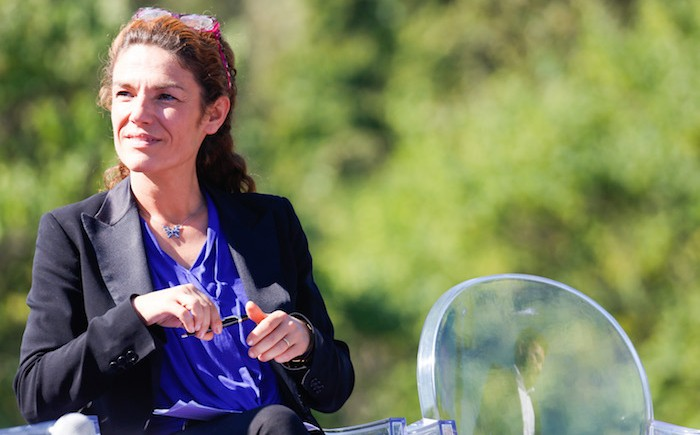 France. Issy les Moulineaux le 2016/09/24 Universite de rentree de UDI Union des Democrates Independants. Chantal Jouanno portrait Senatrice UDI