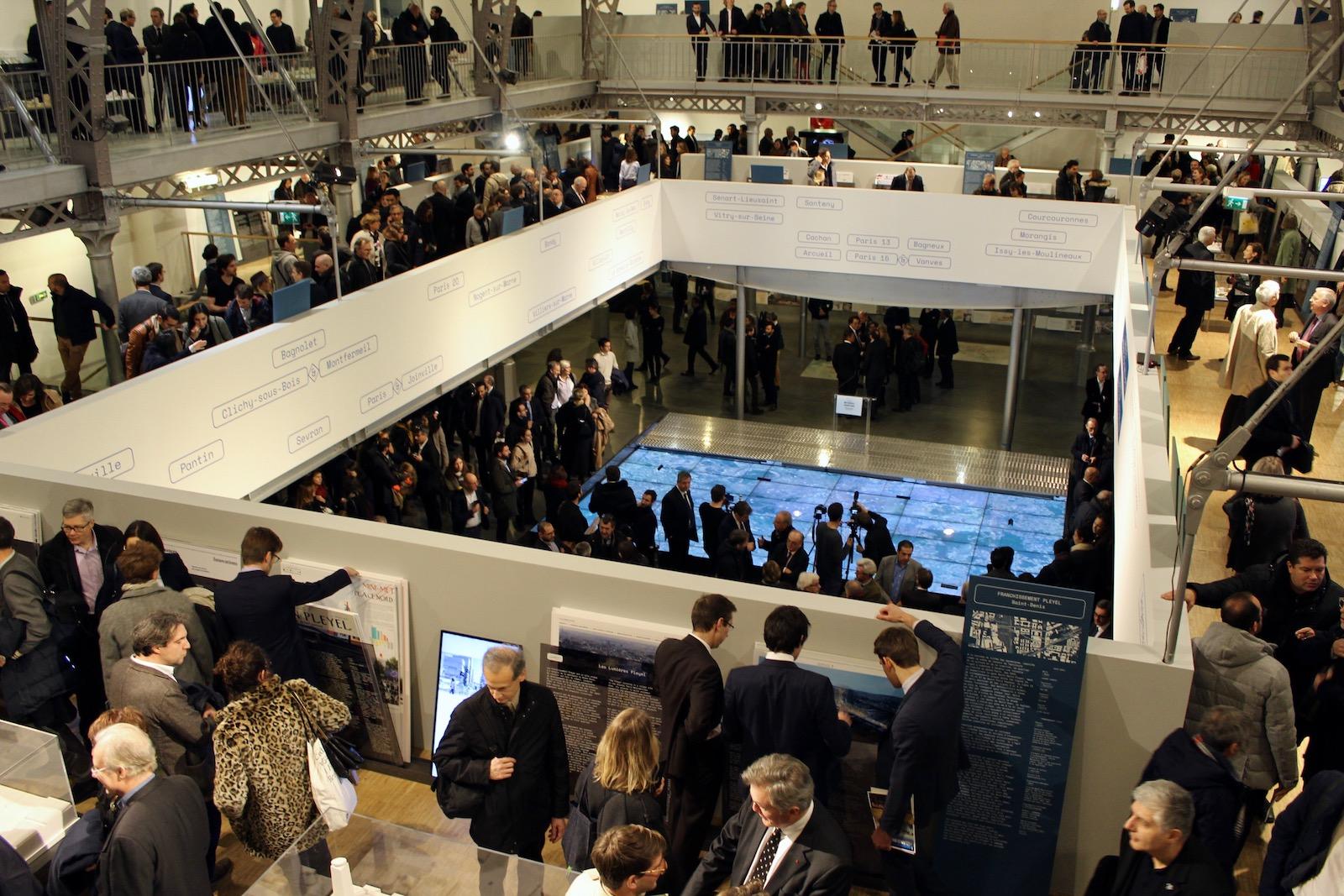 L'inauguration de l'exposition consacrée aux 153 projets d'Inventons la Métropole du Grand Paris a réuni plus de 2 200 personnes au Pavillon de l'Arsenal.