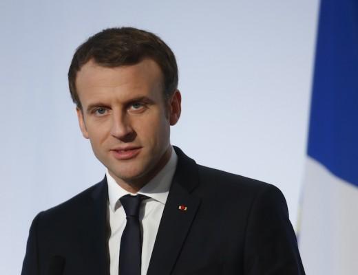 France. Paris le 2017/12/13 Conference de Presse finale du G5 Sahel au Chateau de la Celle Saint Cloud. Emmanuel Macron portrait President de la Republique